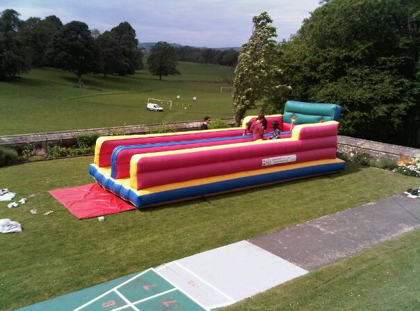 30ft Twin Lane Bungee Run - R Leisure Hire Ltd - 01524 733540